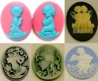 1pc Angel silicone mold for fimo resin polymer clay fondant cake chocolate