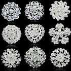 NEW Rhinestone Crystal Flower Wedding Bridal Bouquet Silver Flower Brooch Pin