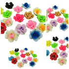 NEW Mixed Colour Polymer Fimo Clay Flower Beads - 18MM - JEWELLERY FINDINGS