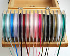 Berisfords Double Satin Ribbons 3mm (1/8 inch) width, 5, 10 or 30 metres