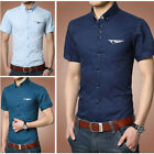 SD73 New Men's Short Sleeves Luxury Casual Slim Fit Stylish Tops Dress Shirts