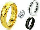 MAN'S LORD OF RINGS LOTR TITANIUM TUNGSTEN CERAMIC STARS LOVES RING SZ  8 -13