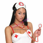 Hospital Nurse or Doctor Plastic Toy Stethoscope Costume Halloween Black or Red