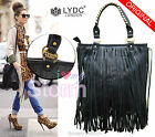 LADIES LYDC LONDON KOURTNEY CELEB TASSEL HANDBAG DETACHABLE SHOULDER STRAP