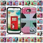 For LG L70 Realm LS620 Optimus Exceed 2 VS450 W7 Slim Dynamic Cover Case + LCD