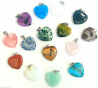 Pendant Heart Reiki Healing 2cm & 1.2cm Meaning Gemstones Necklace Chain Finding