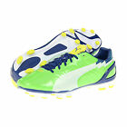 Puma Evospeed 3FG Men's Football Boots Shoes New - Green/White/Yellow
