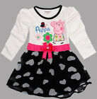 Baby Girls Kids Child Long Sleeve Peppa Pig Princess Party One-piece Dress Skirt
