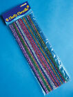 Playbox Fluffy Pipe Cleaners Bag of 50 @ 30cm Glitter Neon Striped Crafts NEW