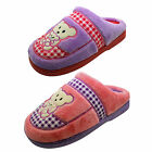 Ladies Quality Teddy Bear Slipper Mules Pink Lilac Soft Mule Gift Slippers Size