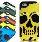Chrome Skull Dual Layer Silicone & Hard Case for Apple iPhone 5C