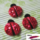 "(U Pick) Wholesale 50-500 Pcs. 1-1/4"" Padded Sequined Lady Bug Appliques BU021"