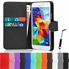 Book Flip Leather Wallet Case Cover For Samsung Galaxy S5 i9600 Screen Protector