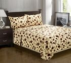 Luxury Branch and Leaf Themed Wrinkle Free Pillowcase Set -100% Microfiber