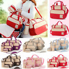 5pcs Baby Nappy Diaper Mother Handbag Bag Set 2 Bags 2 Pouches Change Mat