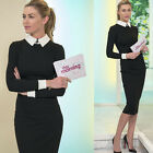 Vintage Rockabilly Women's Wear To Work Party Pencil Midi Office Bodycon Dress
