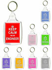 Keep Calm I'm An Engineer Gift Keyring - Various Engineering Professions