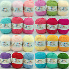 RICO CREATIVE 100% COTTON ARAN KNITTING CROCHET WOOL YARN 50G BALLS 18 COLORS