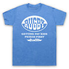 RUGBY GETTING FAT KIDS PICKED FIRST FUNNY HUMOROUS COOL MENS WOMENS T-SHIRT TEE