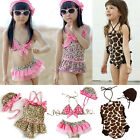 Baby Girls Leopard Giraffe Bikini Sets Swimwear Swimming Costume Swimsuit 1-5Y