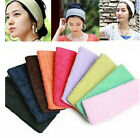 Comfy Cotton Terry Cloth Flexible Headband Sweatband Wristband Sports Yoga