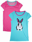 Girl's Pack of Two Nighties Ex Chainstore Bunny Rabbit & Polka Dot 2-11 yrs NEW