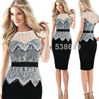 2015 Summer Elegant Pinup Lace Women Evening Club Sexy Party Bodycon Dress Y778