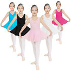 NWT Girls 2-14Years Dance Unitard Sleeveless Dress Leotard with skirt