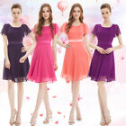 Ever Pretty New Womens Purple Chiffon Short Bridesmaid Casual Party Dress 03990