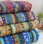 "4pcs assorted pre-cut national exotic cotton linen Quilt fabric DIY 27.5""x19.7"""
