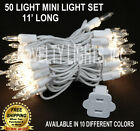 11 Foot Outdoor Patio Christmas Mini Light String Lights - Set of 50 Mini Lights