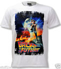Official Back To The Future Poster T Shirt Marty McFly De Lorean All Sizes NEW