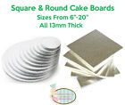 "Cake Boards/Drums. Square & Round. 6""-20"" ALL 13mm THICK. Professional Quality"