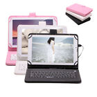 "iRulu 9"" PU Leather Micro USB Keyboard Case With Buttons Stand Cover for Tablet"