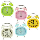 Fashion Oval Twin Bell Desk Loud Alarm Clock Scanning Movement Children Light