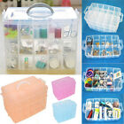 New 3 Layer 30 Compartment Plastic Jewelry Pill Nail Art Drug Storage Ring Case