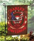 HARLEY-DAVIDSON MOTORCYCLE BIKER GARDEN PORCH WELCOME FLAG BANNER IN 3 DESIGNS