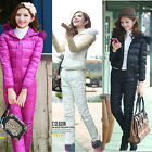 Women's Winter Duck Down Suit Jacket+Pants Demountable Sleeve Warm Parka Casual