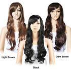 Women Girls Long Sexy Wavy Curly Premium Hair Full Wigs With Wig Cap