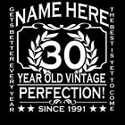 30th Birthday T-Shirt Personalise with Name Age Year  3XL 4XL 5XL Mens Larger