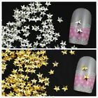 1 Pack About 500x Silver/Gold Star Shape 3D Alloy Metal Nail Art Tips Accessory