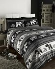 Design Empire Black,Quilt Cover & Pillow Cases Sets. In All Sizes Great Buy