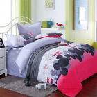 Fashion Twin Queen/Double King Bed Duvet Cover&Pillow Case&Sheet  Bedding Sets