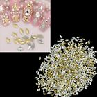 C99D 1000pcs 3D Nail Art Tips Stickers Studs Gold Silver Rivets Beads Rhinestone