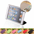 New 6 Colours PU Leather Folding Smart Case 3 Folding Folio Cover For iPad Mini2