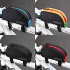 Roswheel Cycling Front Frame Tube Bag Bicycle Top PVC Pouch Basket 1L Black Red