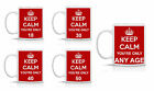KEEP CALM YOU'RE ONLY 18/30/40/50 - FUNNY MUG WITH ANY AGE YOU LIKE