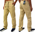 Mens Gio Goi Designer Jeans Regular Fit Curved Leg Stylish Chino Trouser Pants