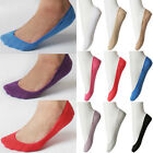 Women Ladies Lightweight Non Silp No-Show Shoe Liner Footie Color Cotton Socks