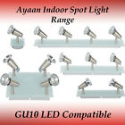 Fias Range of Ayaan GU10 spotlight in Frost/Clear Glass Finish - Track Light